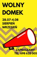 plakat wolny domek3
