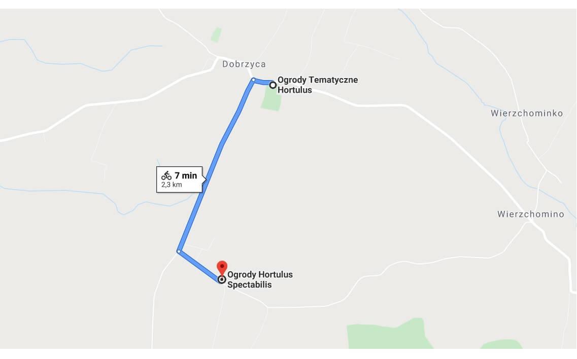 trasa rowerowa Hortulus Dobrzyca