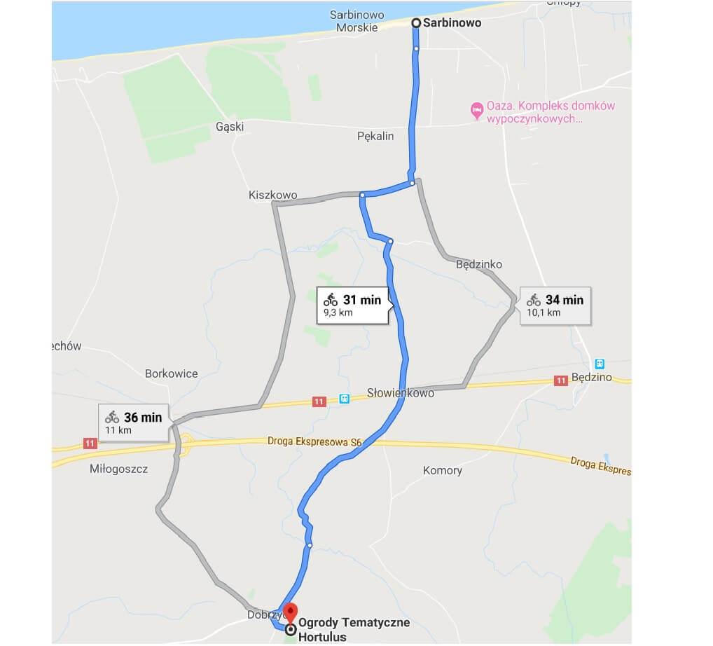 trasa rowerowa Sarbinowo-Dobrzyca